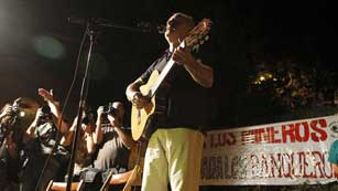 Los mineros de la llamada Marcha Negra se preparan para su entrada en Madrid
