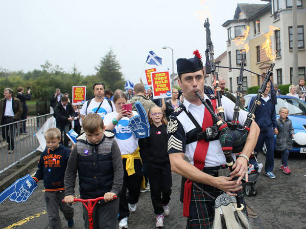 Marcha por el sí en Edimburgo
