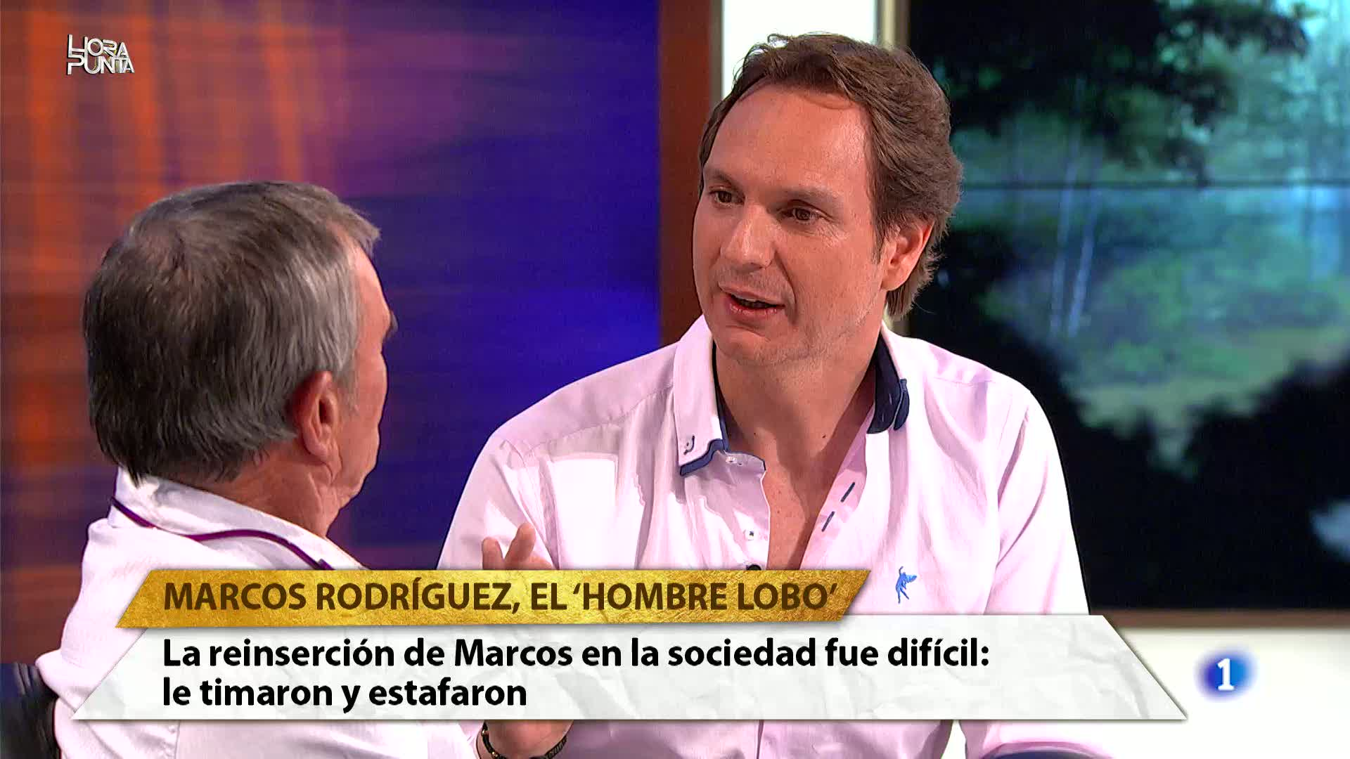 Hora Punta - Marcos Rodríguez, el `Hombre Lobo¿, asegura que vivir entre lobos ha sido la mejor época de su vida. Se considera un lobo más de la manada