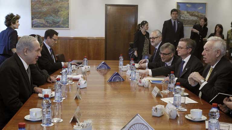 Margallo se reúne con Netanyahu en su visita a Israel