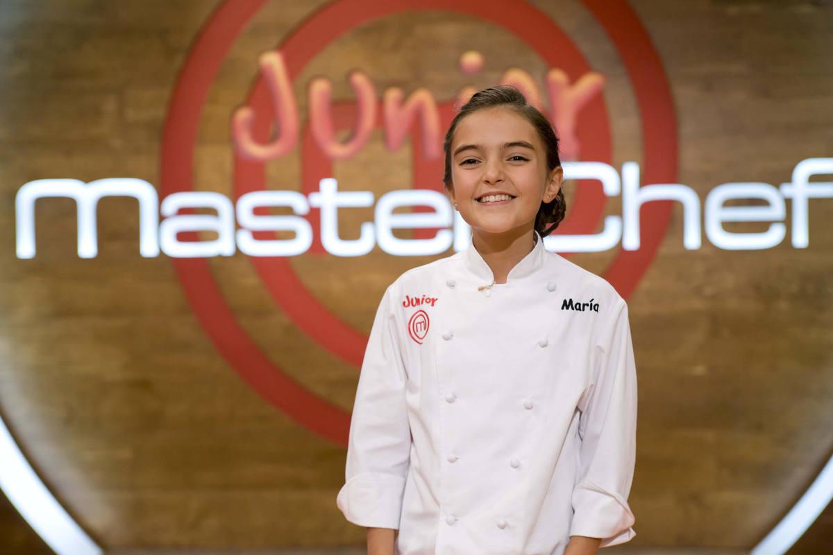 María, de 11 años ha trabajado como un chef profesional