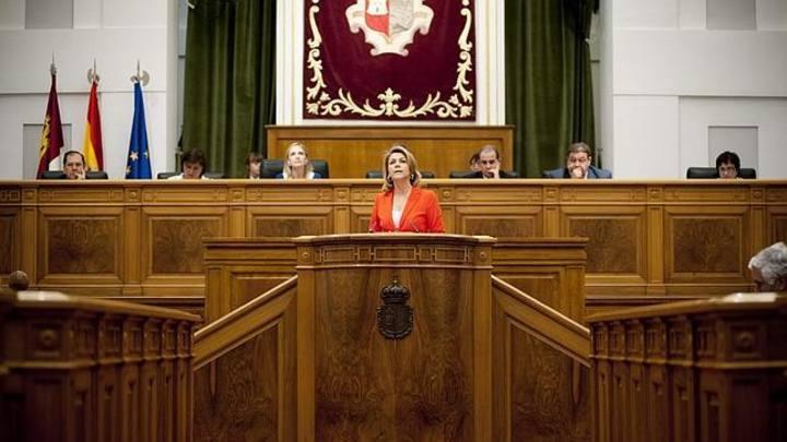 María Dolores de Cospedal en el Parlamento de Castilla-La Mancha