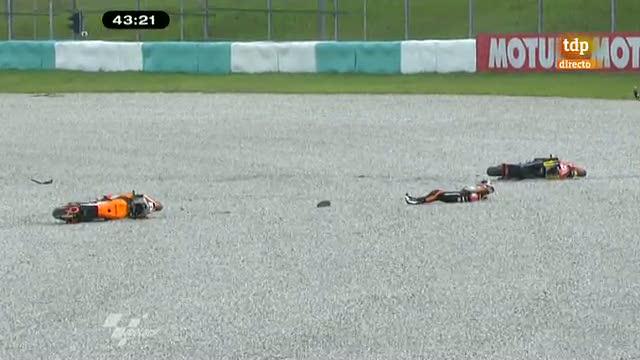 Márquez se estrena con caída en Sepang