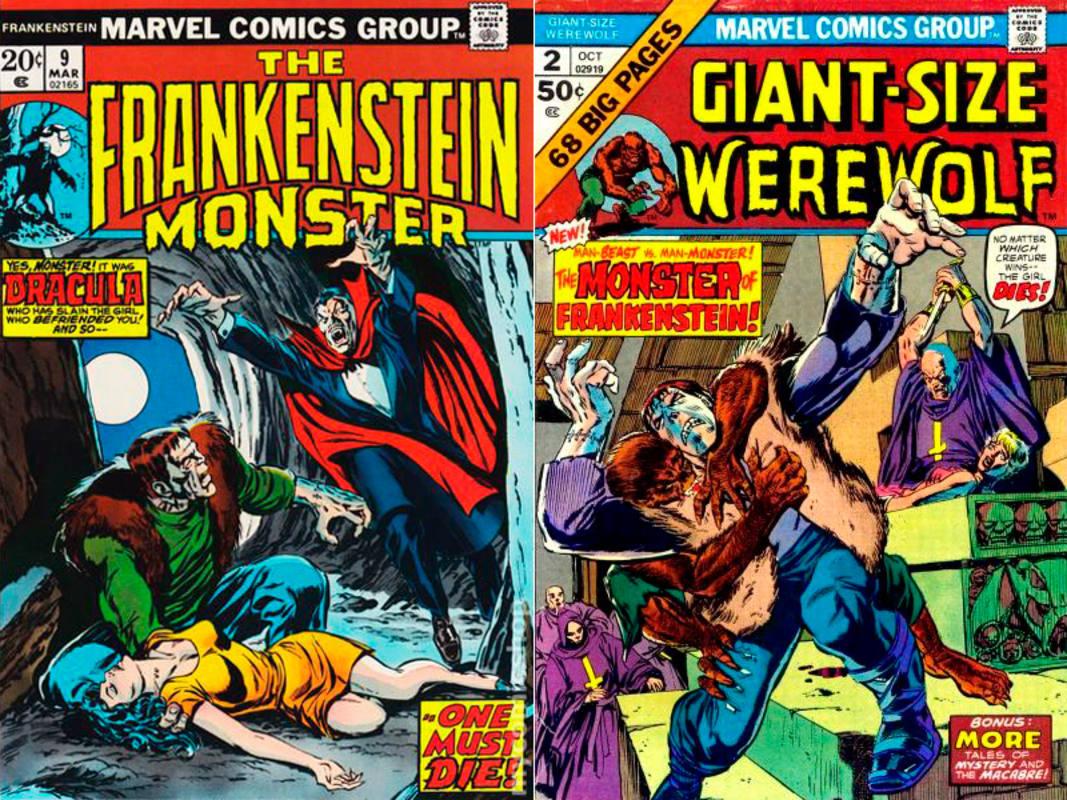 En Marvel, el Monstruo de Frankenstein compartió aventuras con Drácula y el Hombre Lobo
