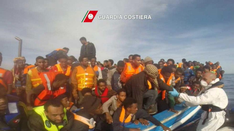 Más de 5.800 personas rescatadas en el Mediterráneo este fin de semana