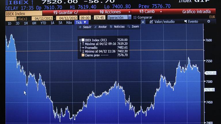 La Bolsa de Madrid sufre la mayor caída del año y la prima de riesgo vuelve a 425 puntos