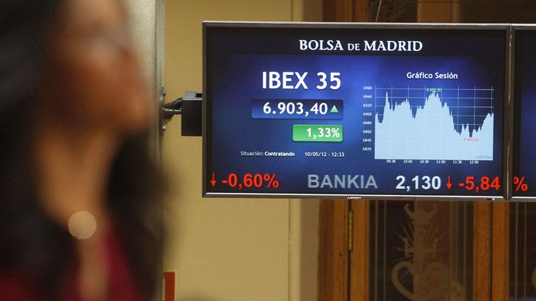 El Ibex-35 se anota la mayor subida del año y Bankia modera las pérdidas
