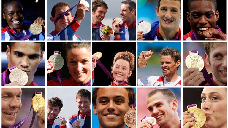 """Los medallistas británicos cantan """"Don't stop me now"""""""