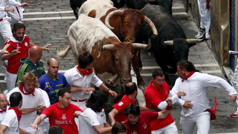 Los mejores momentos del quinto encierro de San Fermín 2012, de Fuente Ymbro