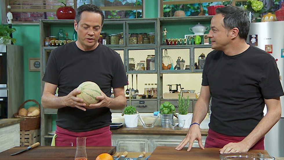 Torres en la cocina - Melón con jamón y Raya con alubias