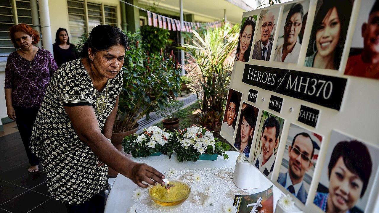 Memorial por las víctimas del vuelo de Malaysia Airlines MH370 en Petaling Jaya, Malasia