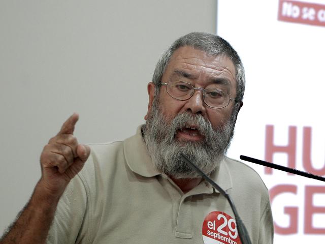 Cándido Méndez aboga por un cambio en las políticas del gobierno tras la huelga del 29-S