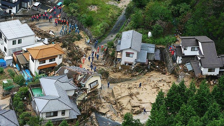 Al menos 27 muertos y una decena de desaparecidos por inundaciones y corrimientos de tierras en Hiroshima