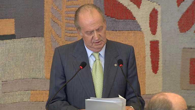 Don Juan Carlos ha pedido a Europa soluciones políticas ante la situación financiera