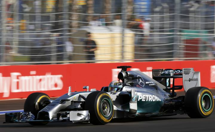 Mercedes Formula One driver Lewis Hamilton of Britain speeds during the first Russian Grand Prix in Sochi
