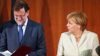 """Merkel asegura que Alemania debería """"tomar ejemplo"""" de España"""