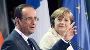 Merkel y Hollande coinciden en que Grecia no salga de la zona del euro