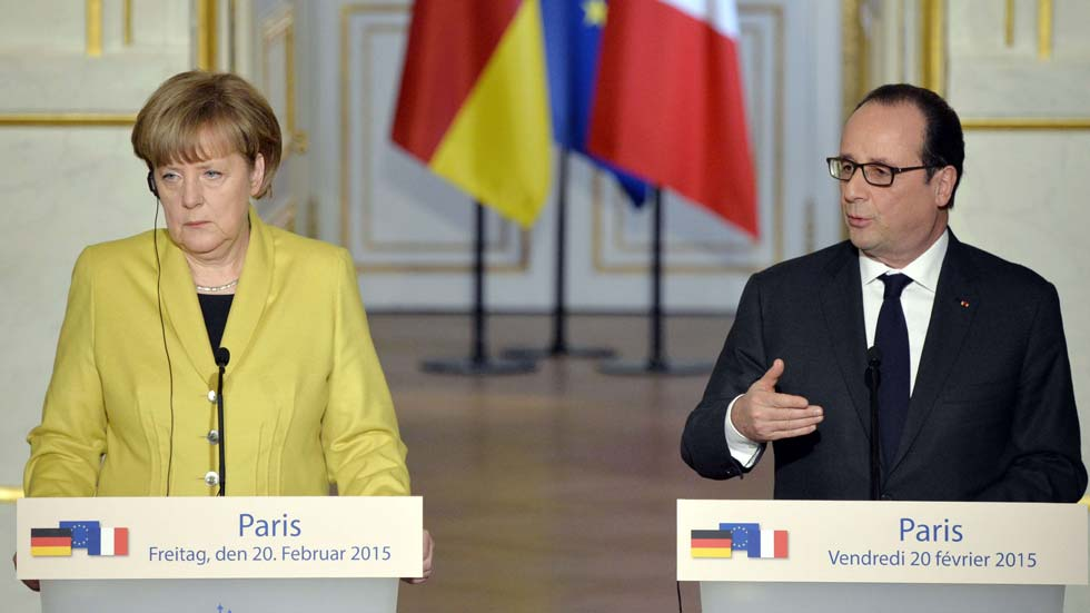 Francia y Alemania trabajarán para que el acuerdo de Minsk se cumpla íntegramente