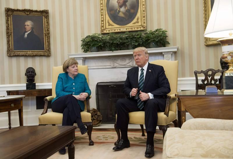 Merkel y Trump, en el Despacho Oval de la Casa Blanca