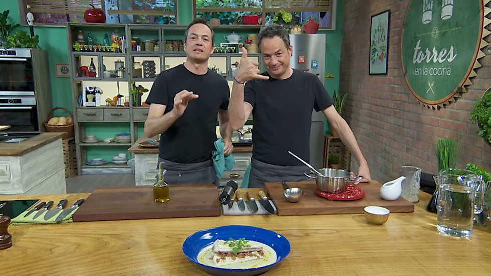Torres en la cocina - Merluza rellena y sopa de chufa