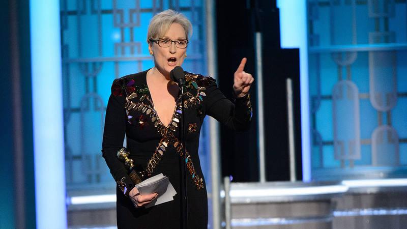 Meryl Streep recibe un Globo de Oro honorífico en la gala de la 74 edición de los premios