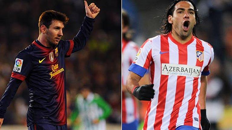 Messi  y Falcao, goleadores de ensueño