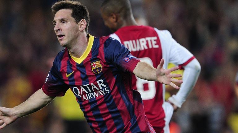 La Pulga Las Vegas >> Champions League 2013-2014: Messi, a nueve goles del ...