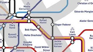 El metro de Londres dedicada sus paradas de metro a las leyendas olímpicas