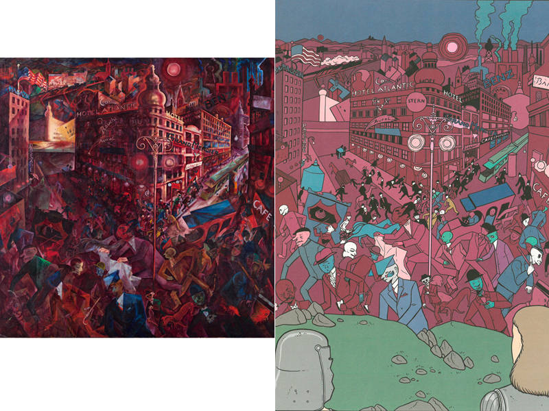 'Metrópolis' de George Grosz y su versión en cómic