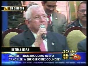 Micheletti rechaza las amenazas de Chávez