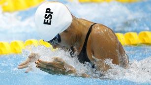 Michelle Alonso, récord paralímpico en natación 100 m braza