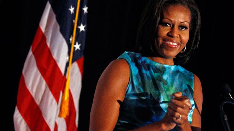 Michelle Obama pone el acento en el lado más humano de su marido