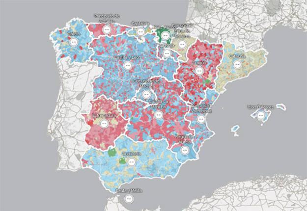 El microscopio del voto, cómo vota España
