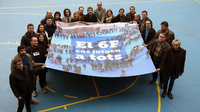Miembros de la ANC, Òmnium, la Asociación Catalana de Municipios y la Asociación de Municipios por la Independencia