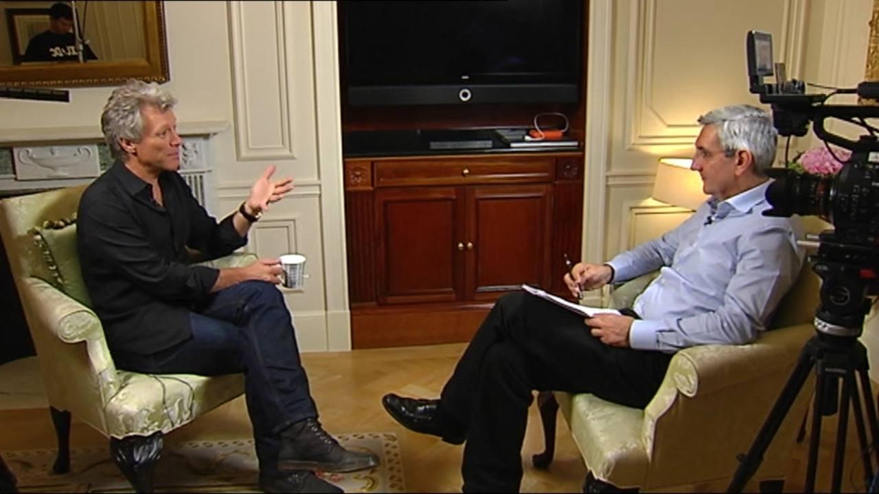 Miguel Ángel Idígoras con Jon Bon Jovi
