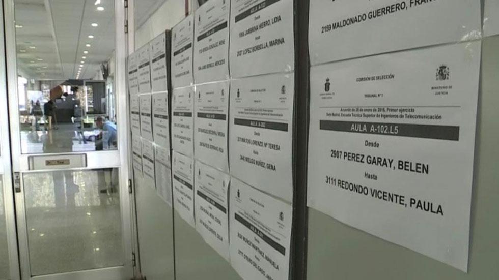 Miles de aspirantes optan a las plazas de juez y fiscal