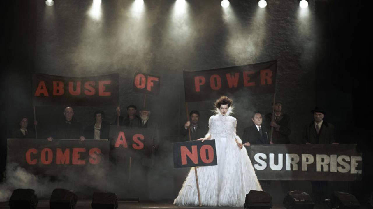 Milla Jovovich para Vogue Italia en el año 2012. @Peter Lindbergh