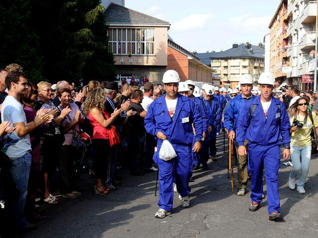 Los mineros de León comienzan una marcha de protesta hasta el 29-S