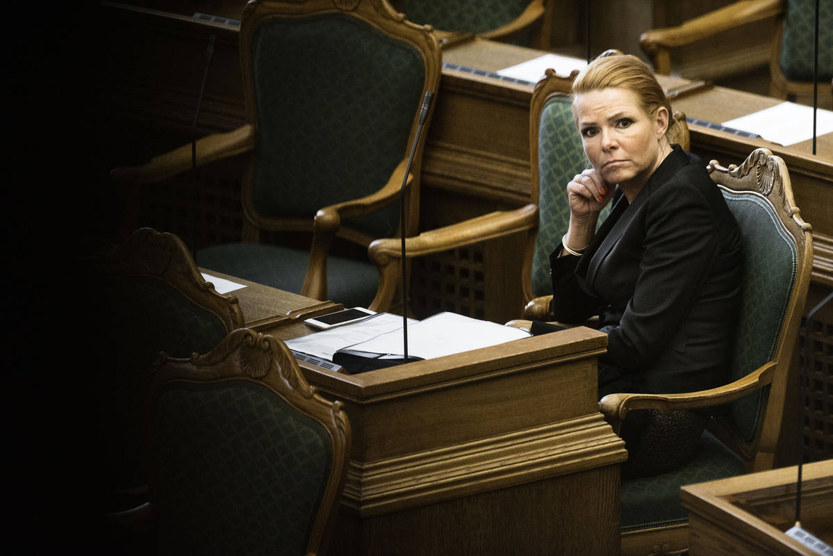 La ministra danesa de Inmigración e Integración, Inger Støjberg