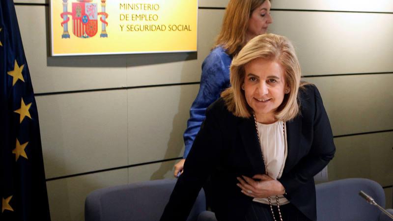 La ministra de Empleo, Fátima Báñez, durante la Conferencia Sectorial de Empleo y Asuntos Laborales