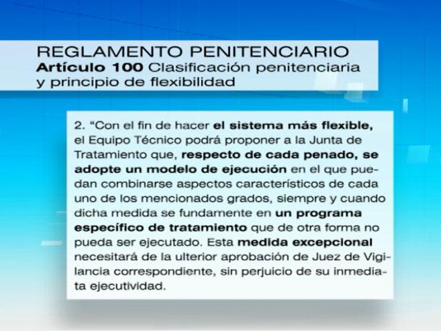 Rubalcaba defiende que se cumple estrictamente la ley en for Ley penitenciaria