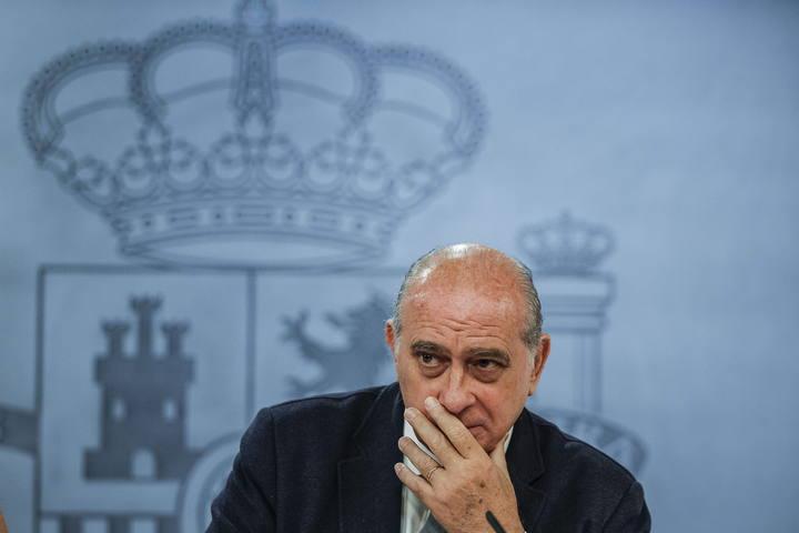 El ministro del Interior, Jorge Fernández Díaz, durante la rueda de prensa posterior a la reunión del Consejo de Ministros.