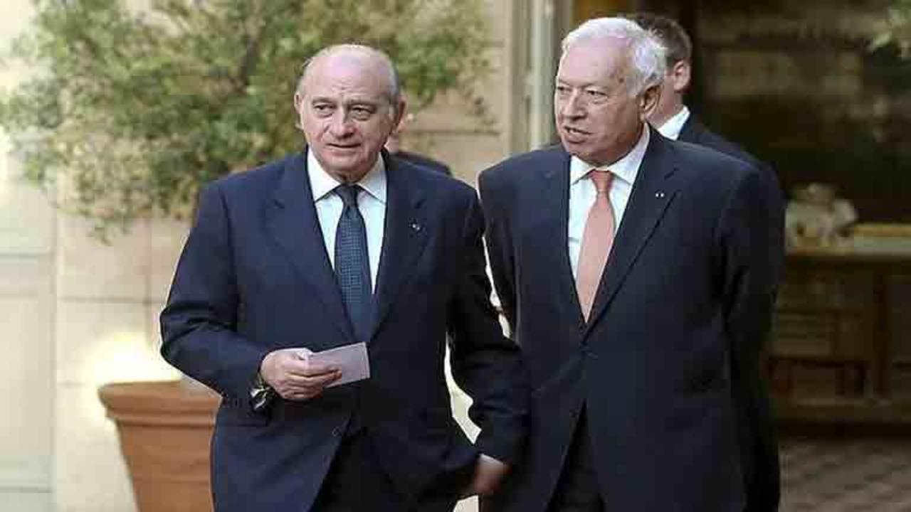 El ministro del Interior, Jorge Fernández, junto al ministro de Exteriores y Cooperación, José Manuel García-Margallo