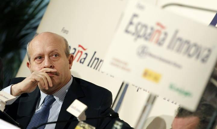 El ministro de Educación, Cultura y Deporte, José Ignacio Wert, durante un desayuno informativo.