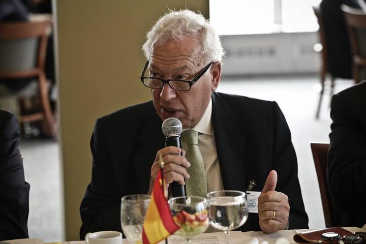 EL MINISTRO ESPAÑOL DE EXTERIORES, JOSÉ MANUEL GARCÍA-MARGALLO, SE REÚNE CON CANCILLERES IBEROAMERICANOS
