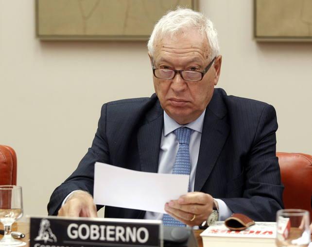 El ministro Margallo, ante la comisión de Asuntos Exteriores del Congreso.
