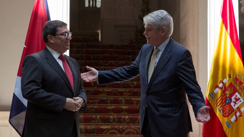 Los ministros de Exteriores de Cuba y España, en Madrid