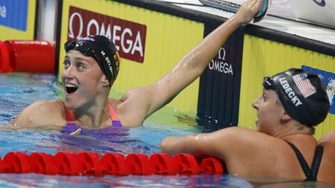 Mireia Belmonte se cuelga la plata en los 1.500 metros libre
