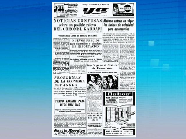 Hace 37 años la portada del diario 'Ya' era igual que las noticias de hoy