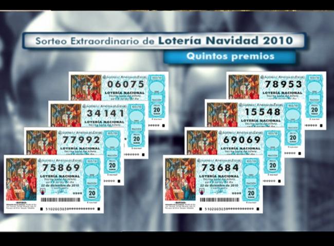 lista de los numeros de la loteria navidad: